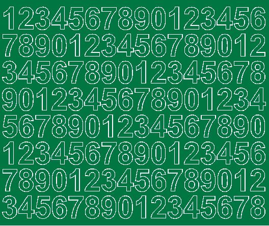 Cyfry samoprzylepne 2 cm zielone matowy
