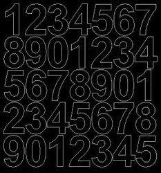Cyfry samoprzylepne 4 cm czarne z połyskiem