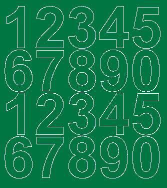 Cyfry samoprzylepne 5 cm zielone z połyskiem