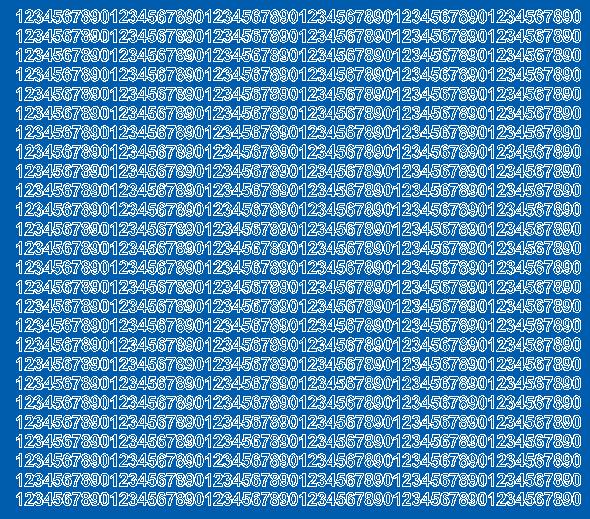 Cyfry samoprzylepne 5 milimetrów niebieski z połyskiem