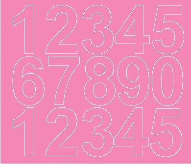 Cyfry samoprzylepne 6 cm różowy z połyskiem