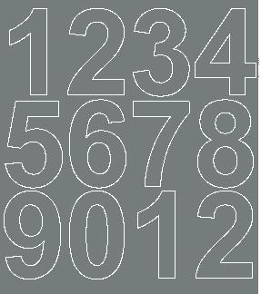 Cyfry samoprzylepne 7 cm szary matowy