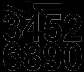 Cyfry samoprzylepne 8 cm czarne z połyskiem