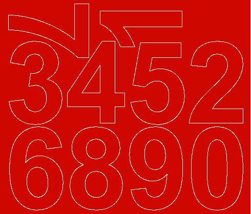 Cyfry samoprzylepne 8 cm czerwone matowy