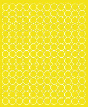 Koła grochy samoprzylepne 1.5 cm żółty z połyskiem 180 szt