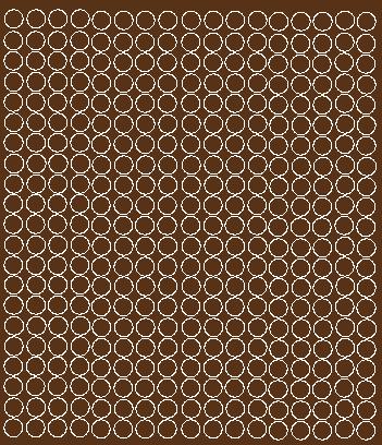 Koła grochy samoprzylepne 1 cm brązowy z połyskiem 357 szt