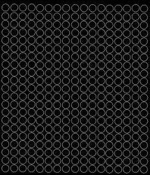 Koła grochy samoprzylepne 1 cm czarne z połyskiem 357 szt