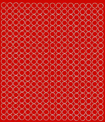Koła grochy samoprzylepne 1 cm czerwone z połyskiem 357 szt