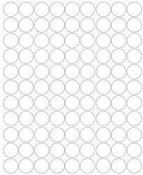Koła grochy samoprzylepne 2 cm biały matowy 99 szt
