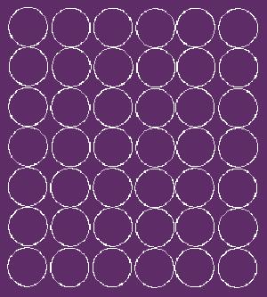 Koła grochy samoprzylepne 3 cm fioletowy z połyskiem 42 szt