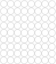 Koła grochy samoprzylepne 5 cm białe z połyskiem 72 szt