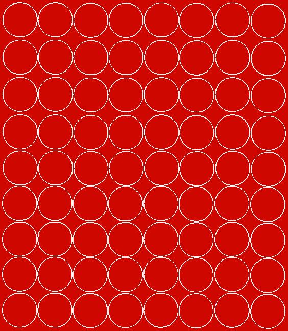 Koła grochy samoprzylepne 5 cm czerwone z połyskiem 72 szt