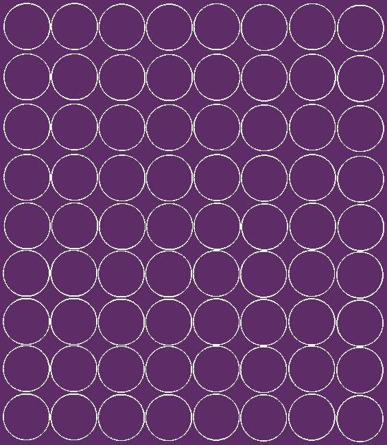 Koła grochy samoprzylepne 5 cm fioletowy z połyskiem 72 szt