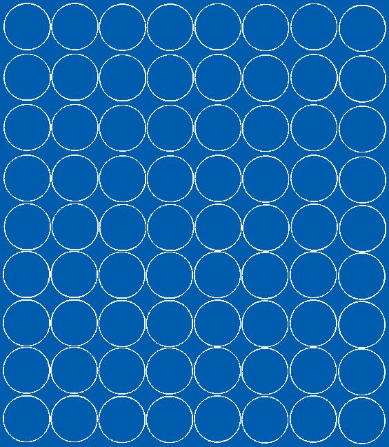 Koła grochy samoprzylepne 5 cm niebieski matowy 72 szt