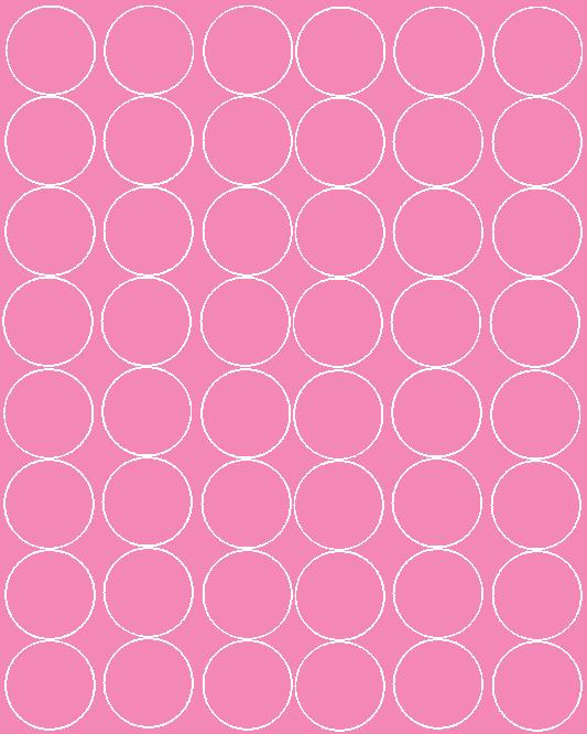 Koła grochy samoprzylepne 6 cm różowy z połyskiem 48 szt