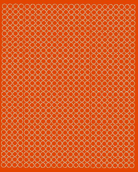 Koła grochy samoprzylepne 7 milimetrów pomarańczowy z połyskiem 720 szt