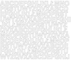 Litery samoprzylepne 1.5 cm biały matowy