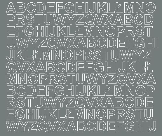 Litery samoprzylepne 1.5 cm szary matowy