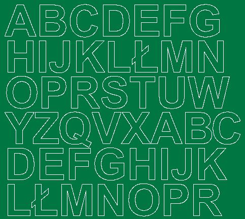 Litery samoprzylepne 3 cm zielone matowy