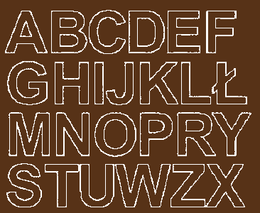 Litery samoprzylepne 4 cm brązowy z połyskiem
