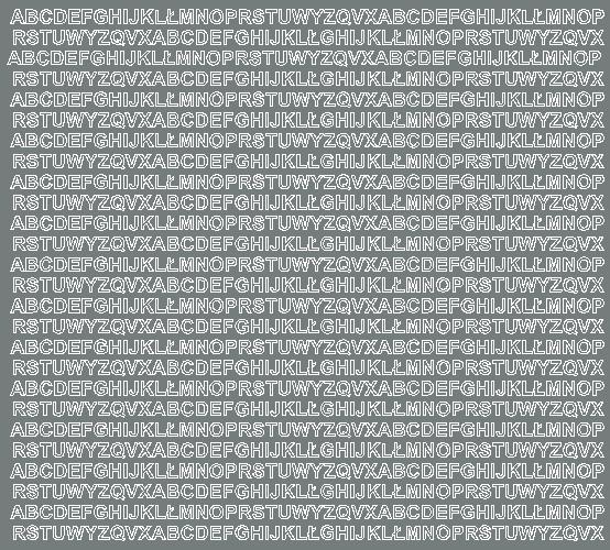 Litery samoprzylepne 5 milimetrów szary z połyskiem