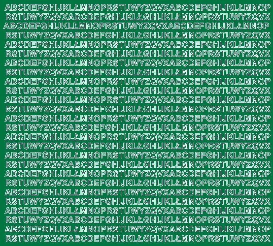 Litery samoprzylepne 5 milimetrów zielone matowy