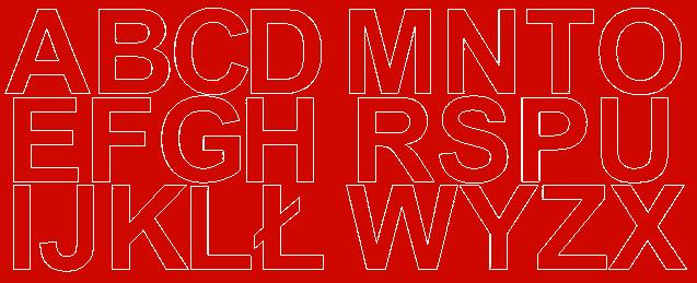 Litery samoprzylepne 6 cm czerwone matowy