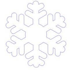 Naklejki na okno płatki śniegu śnieżynki 12 sztuk 5,5 cm