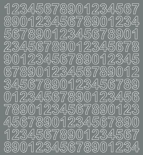 Cyfry samoprzylepne 1.5 cm szary matowy
