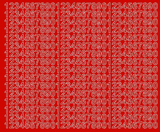 Cyfry samoprzylepne 1 cm czerwone matowy