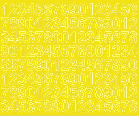 Cyfry samoprzylepne 2 cm żółty z połyskiem