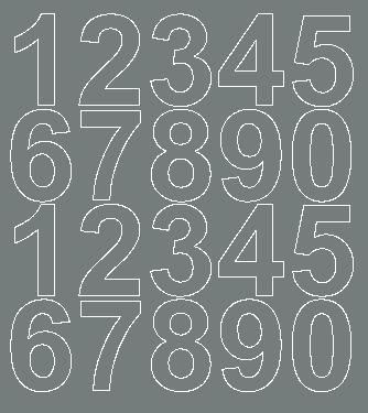 Cyfry samoprzylepne 5 cm szary z połyskiem