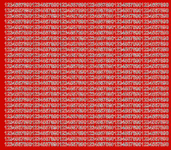 Cyfry samoprzylepne 5 milimetrów czerwone matowy