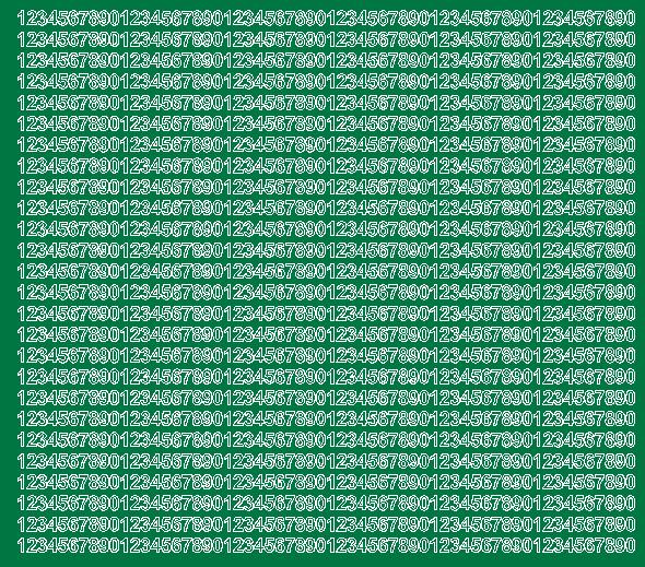 Cyfry samoprzylepne 5 milimetrów zielone z połyskiem