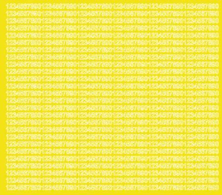 Cyfry samoprzylepne 5 milimetrów żółty z połyskiem