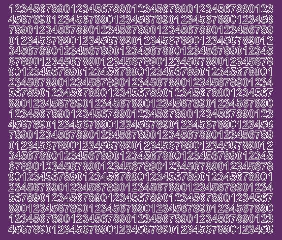 Cyfry samoprzylepne 7 milimetrów fioletowy z połyskiem