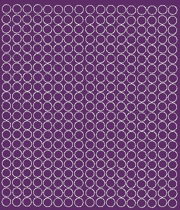 Koła grochy samoprzylepne 1 cm fioletowy z połyskiem 357 szt