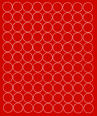 Koła grochy samoprzylepne 2 cm czerwone matowy 99 szt