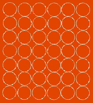 Koła grochy samoprzylepne 3 cm pomarańczowy z połyskiem 42 szt