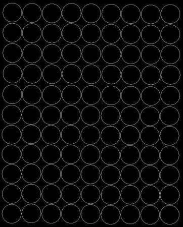 Koła grochy samoprzylepne 4 cm czarne z połyskiem 99 szt