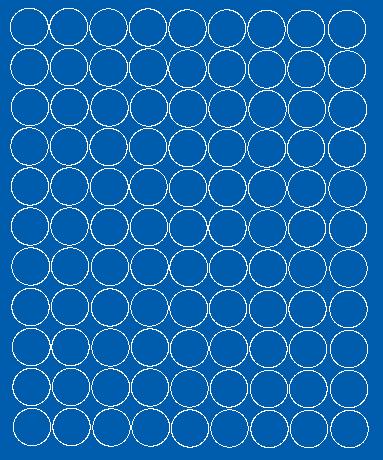 Koła grochy samoprzylepne 4 cm niebieski z połyskiem 99 szt