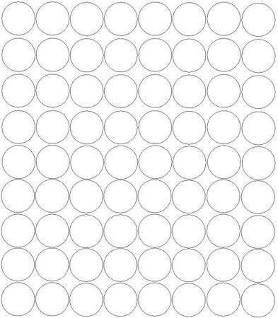 Koła grochy samoprzylepne 5 cm biały matowy 72 szt