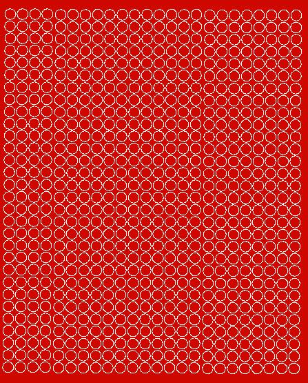Koła grochy samoprzylepne 7 milimetrów czerwone z połyskiem 720 szt
