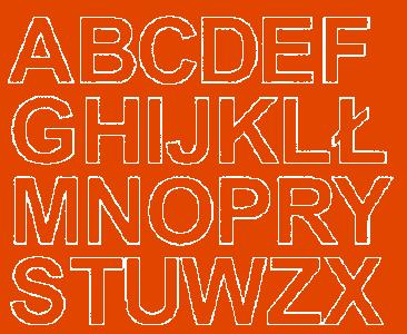 Litery samoprzylepne 4 cm pomarańczowy z połyskiem