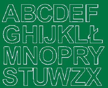 Litery samoprzylepne 4 cm zielone matowy