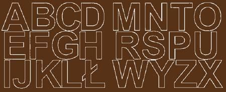 Litery samoprzylepne 6 cm brązowy z połyskiem