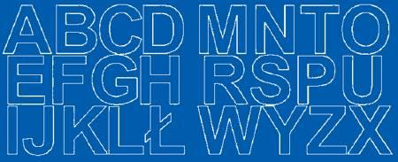 Litery samoprzylepne 6 cm niebieski matowy