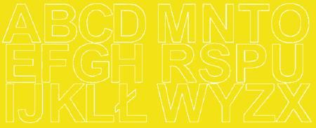 Litery samoprzylepne 6 cm żółty z połyskiem
